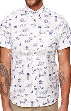de lujo de manga corta camisetas de hawai para los hombres