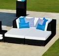 al aire libre 2014 resina de jardín de mimbre lounge de la cama