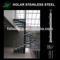 espiral de aço inoxidável do corrimão da escada
