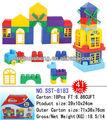 2013 nuevos bloques juguetes tipo casa para juego de niños juguetes de interior