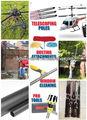 Pala de fibra de carbono 500mm 1000mm