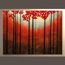 el más reciente hechos a mano paisaje pintura abstracta para decoración