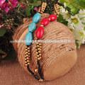elíptica tipo de turquesa hecho a mano de la cadena de la mano