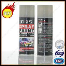 450ml buen quanlity brillan en la pintura en aerosol negro