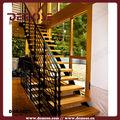 Poutre d'acier escalier étape escaliers en bois pour l'intérieur