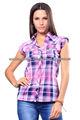 el más reciente de la camisa de verificación para las mujeres con un diseño sin mangas