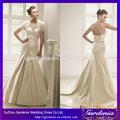 alta qualidade elegante sereia a- linha com saia destacável mangas vestido de noiva saia e blusa vestido de casamento( wd-005)