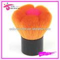 sintético libres de crueldad floral en forma de maquillaje kabuki cepillo de rubor