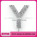 """Carta especial"""" de y"""" de la boda de diamante de imitación de cristal adorno de torta"""