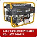 Chongqing hechas de fábrica 190f con un precio de la gasolina motor alimentado 6.5kw generador de electricidad