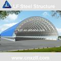 el espacio de acero marco de la estructura de la planta de cemento del silo de almacenamiento
