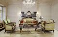 Sofá de lujo española para salón, muebles de la sala de estilo europeo clásico