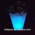 Moderna iluminação led plantador/vaso de flores levou/mudando de cor led vaso de flores