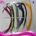Alibaba en gallo grizzly naturales extensiones de cabello de plumas reales españoles barato