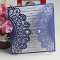 Royal 2014 hecho a mano invitación de la boda | duro de la cubierta de invitaciones de boda