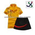 Camisetas de Lala & equipo de falda uniforme para la señora