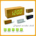 De madera reloj despertador digital led, de escritorio grandes led digital reloj