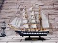 45cm decorativos de madera modelo catamarán de barcos de pesca
