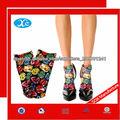 Impresión de sublimación caliente mujeres moda impresión calcetines
