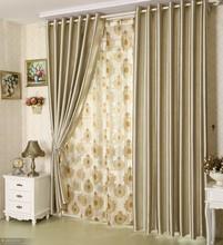 Clásico hogar cortinas textle, que viven de poliéster cortina habitación