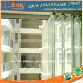 moderno buliding alta de vidrio sin marco de la ventana de la ventana balcón con 8mm de vidrio templado para hogares y oficinas