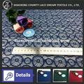 La moda de 2014 African Guipure nylon / Algodón / artificial Cordón de tela de encaje