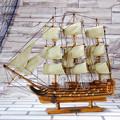 de pino 50cm velero de madera modelo