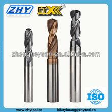 Zhy de alto rendimiento de perforación poco carburo de giro hrc55 taladradoras/agujereadoras/brocas