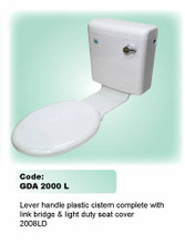 La manija de palanca de plástico cisterna completa con puente de enlace& deber de luz cubierta de asiento 2008ld