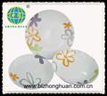 conception de fleur en céramique porcelaine dîner ensemble
