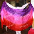 Danza del vientre abanico de seda, danza del vientre, el velo del ventilador, del vientre sexy dacne, tie-dye de danza del vient