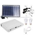 Nuevo diseño de alta calidad 8w panel solar sistema deiluminación solar parainteriores con bombillas, cargador de móvil