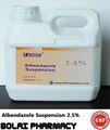 Suspensión de albendazol 2.5% coccidiostático de drogas