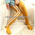 Bonneterie européenne jambes gros pour la vente des jeunes filles en tricot