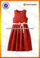 diseño de moda para niños pequeños niñas vestidos de fiesta desgaste durante diez años de edad de las niñas