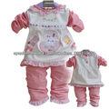 conjunto de 2014 bastante dos piezas ropa para niña bebé 017