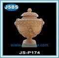 hecho a mano hermoso jardín decoración jarrón de mármol