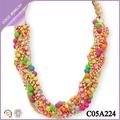 collar cuentas/ mostacillas de colores de moda collares moldeados