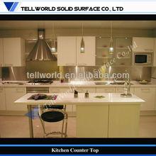 mármol artificial mostrador de la cocina/personalizado comercial mostrador de la cocina