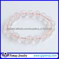 Piedra preciosa rosa pulsera de cuarzo
