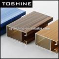 vente chaude de transfert de bois extrudé profilé en aluminium pour porte de placard