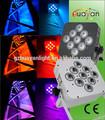 Discoteca led de luz efecto 9*12w rgbwa+uv 6in1 dmx led plana par dj luces de iluminación para las discotecas