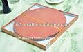 lindo diseño de ronda de manteles individuales de madera
