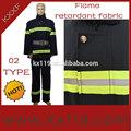 2014 producto nuevo tipo 02 bule oscuro de alta calidad de bombero traje de entrenamiento