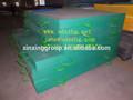 Tamaño grande de color verde uhmwpe outrigger cojines, seguridad de la grúa cojines