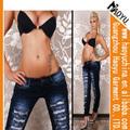 2013 de alta calidad al por mayor sexy skinny jeans de mezclilla pantalones vaqueros personalizados fabricante( hyw691)