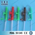 Codificadas por colores tipos de conectores de Frazier pvc médica fabricante tubo del catéter de succión