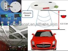 sistema del estacionamiento del centro comercial con el sensor ultrasónico