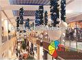 centro comercial atrium de navidad decoración de bolas