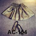 Falda plisado en color oro